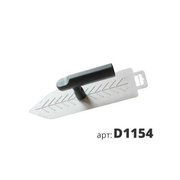 кельма белая пластиковая остроугольная Венеция D1154