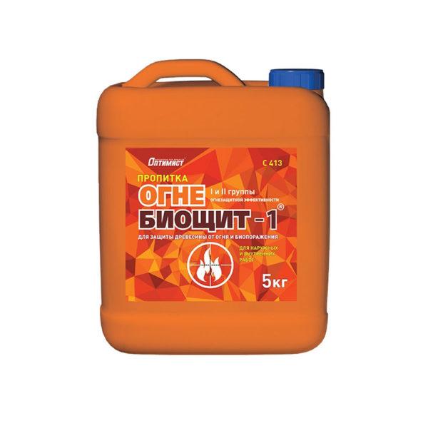 Пропитка ОГНЕ-БИОЩИТ-1 для защиты древесины от огня c-413