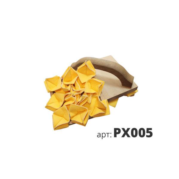 декоративная терка замшевый лоскут с деревянной ручкой PX005